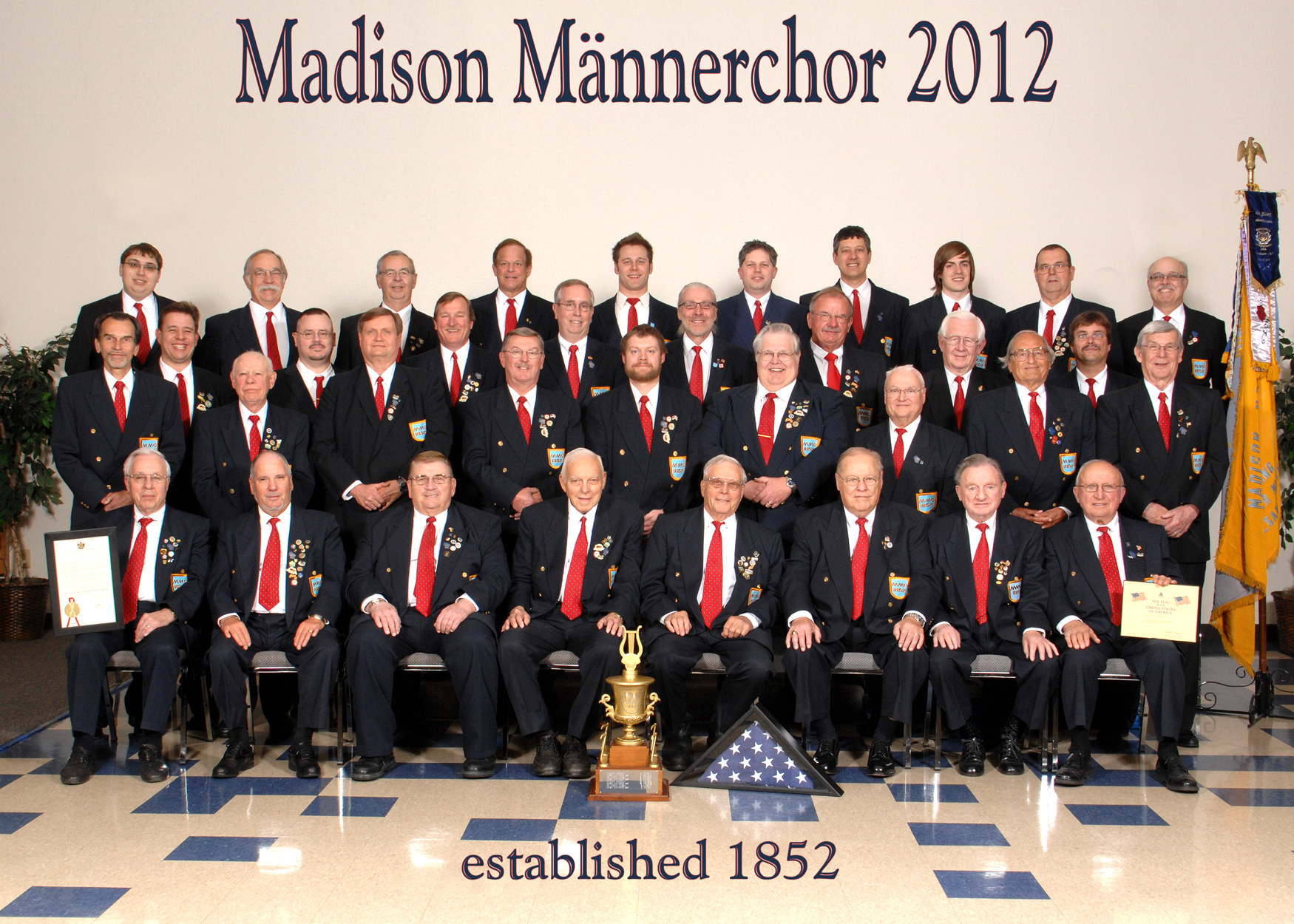 Madison Maennerchor 160th anniversary group portrait