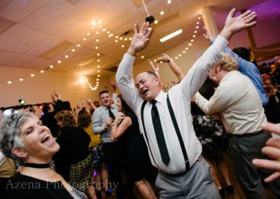 Father of groom dancing