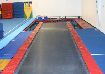 Picture of a tumble trek at Madison Turners Gymnastics