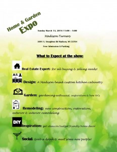 Home & Garden expo March 13 2016 at Madison Turners what to expect at the show